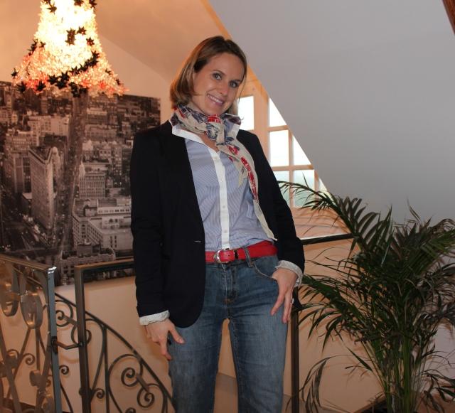 Veste by Zara Chemise by Zara Jean by Stefanel Cheich by Sonia Rykiel