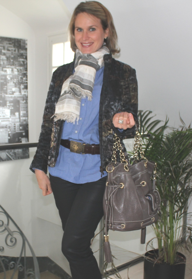 Cheich from Marrakech Tunique Caroll Jean Couleur Pourpre Veste Dismero Sac Lancel