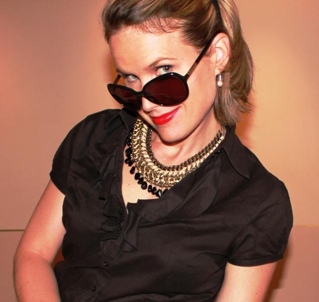 Sunglasses by Prada Necklace by Zara Shirt by Manoukian