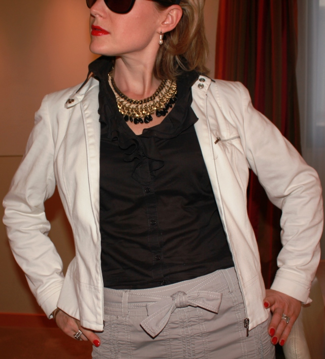 Shirt by Manoukian Jacket by Caroll Necklace by Zara