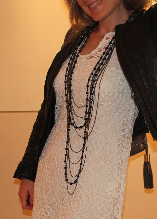 Dress by Sinéquanone Jacket by Zara Necklace by Manoukian