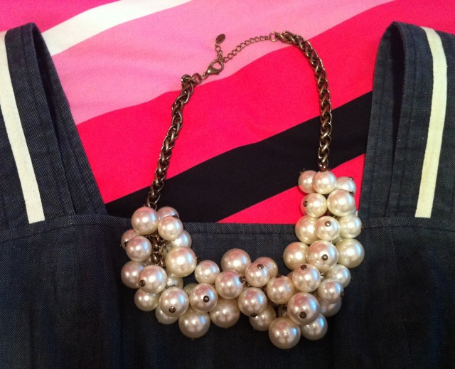 "zoom sur le collier ""grappe de perles"" by Zara"