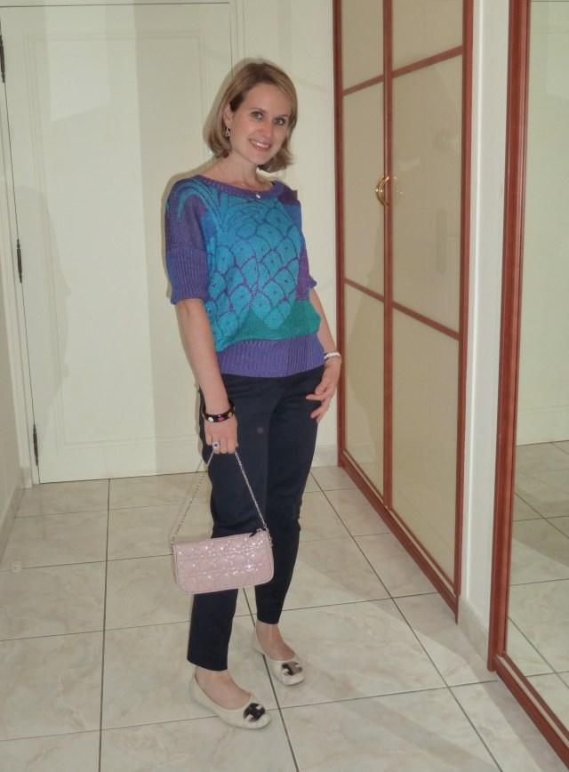 Pantalon Zara, Pull Chacok, Sac Dior