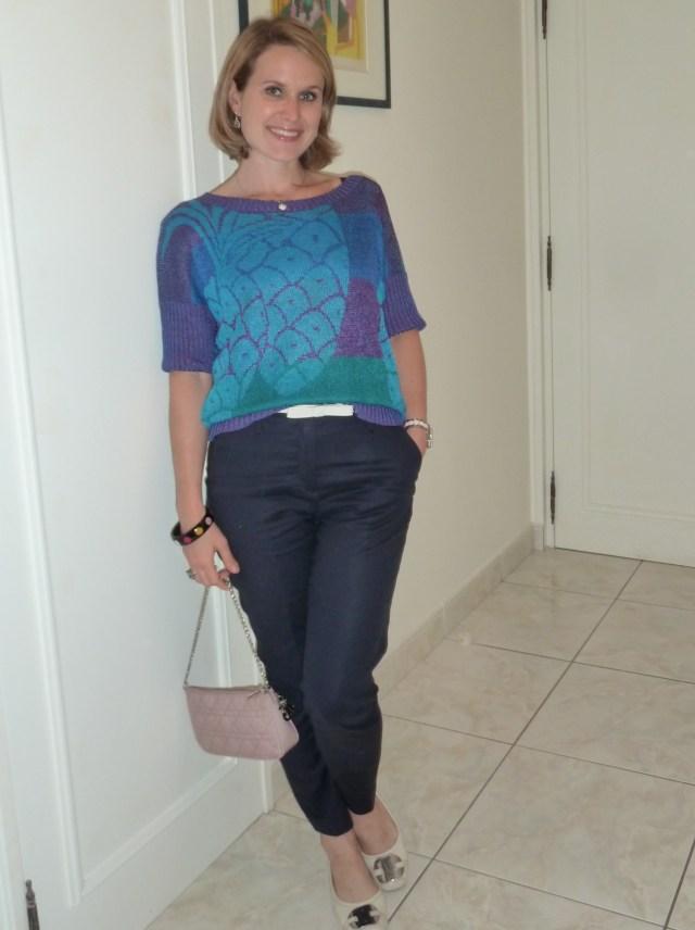 Pantalon Zara, Pull Chacok, Sac Dior, Ceinture Tara Jarmon