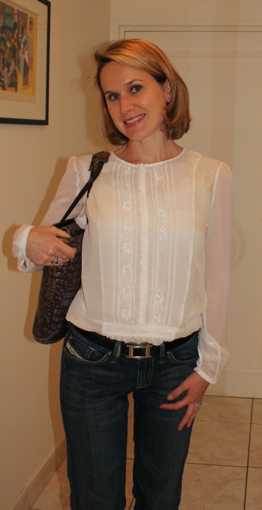 Blouse by Stefanel Jeans by Diesel Bag by Kenzo