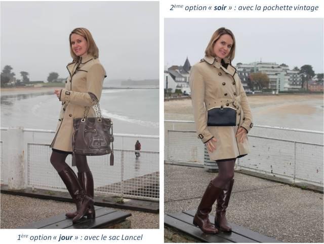 Brown & blue day un look deux options