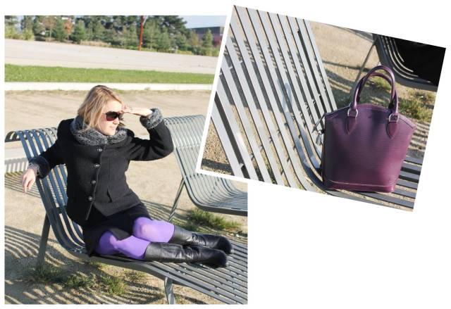 Full black with purple legs 5 7