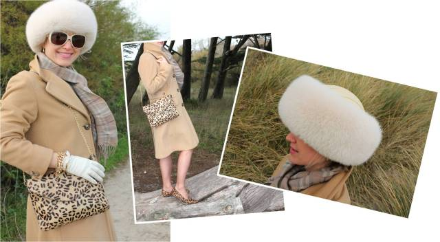 Max Mara fur hat and leo in the wind trio 1