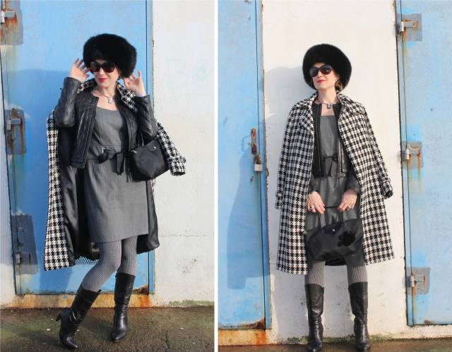 B & W with checked print duo 3
