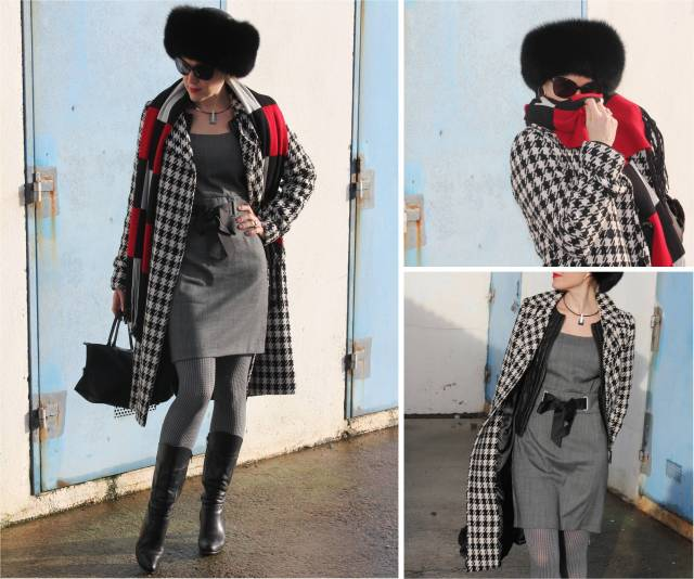B & W with checked print trio 1