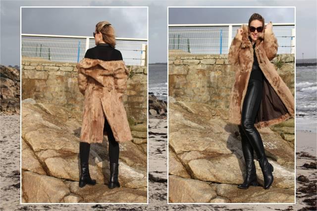 Black leather slim & fur duo 2