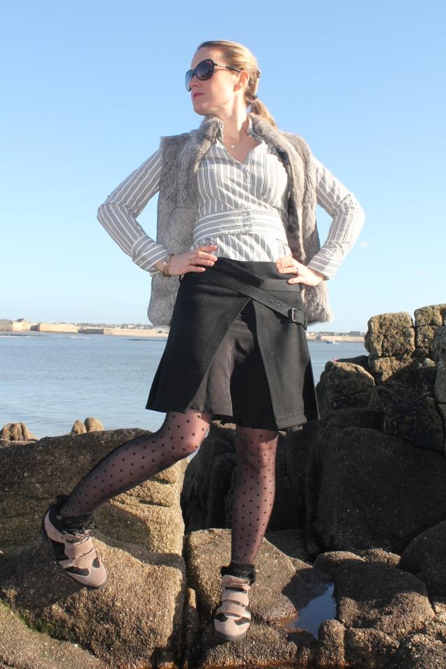 Combo skirt, sneakers & plumetis (54)