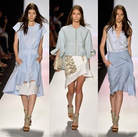 BCBG Max Azria runway with Baby blue