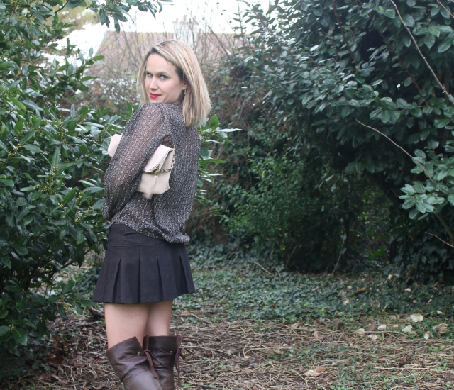 High boots with mini skirt (56)