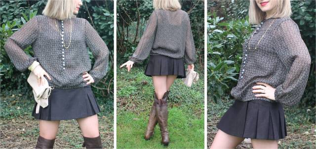 High boots with mini skirt  trio 1