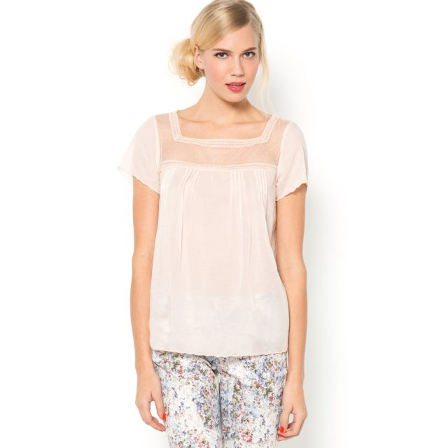 Mademoiselle R baby pink blouse