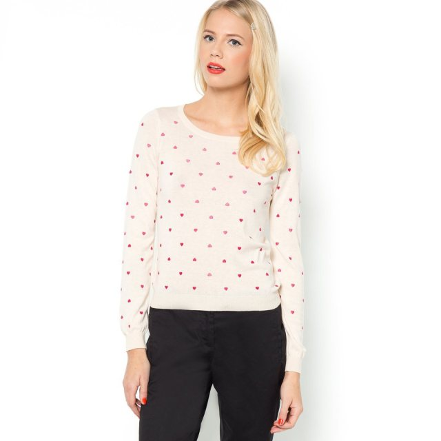 Mademoiselle R baby pink printed sweater