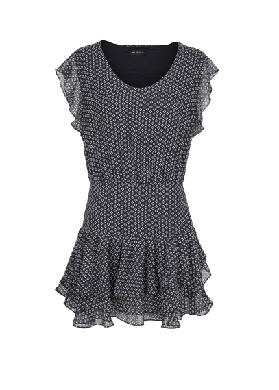 Mango - geometric dress navy blue