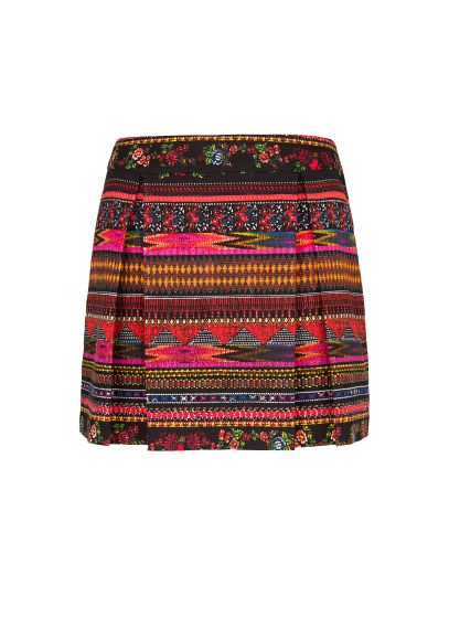 Mango - scarf print mini skirt A