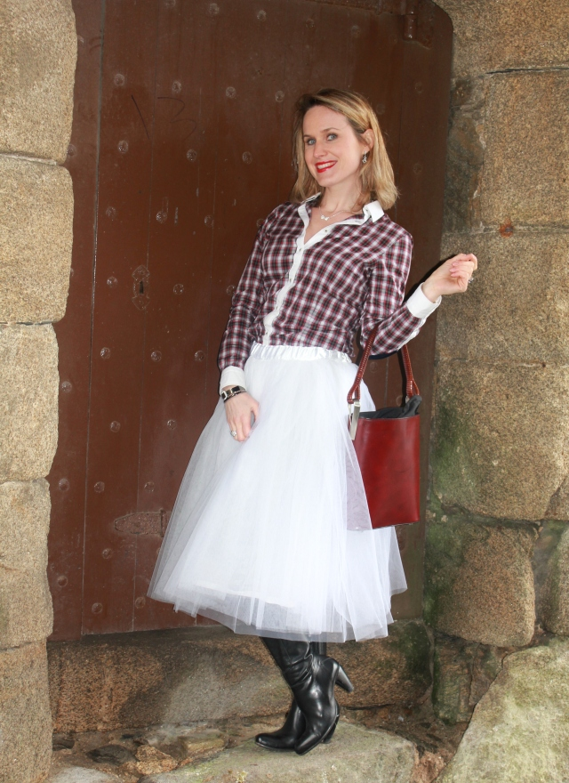White tutu with tartan shirt (26)