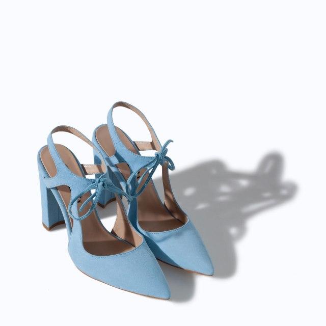 Zara baby blue heels