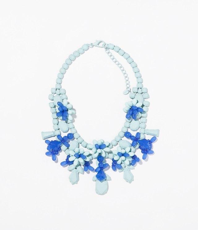 Zara baby blue necklace
