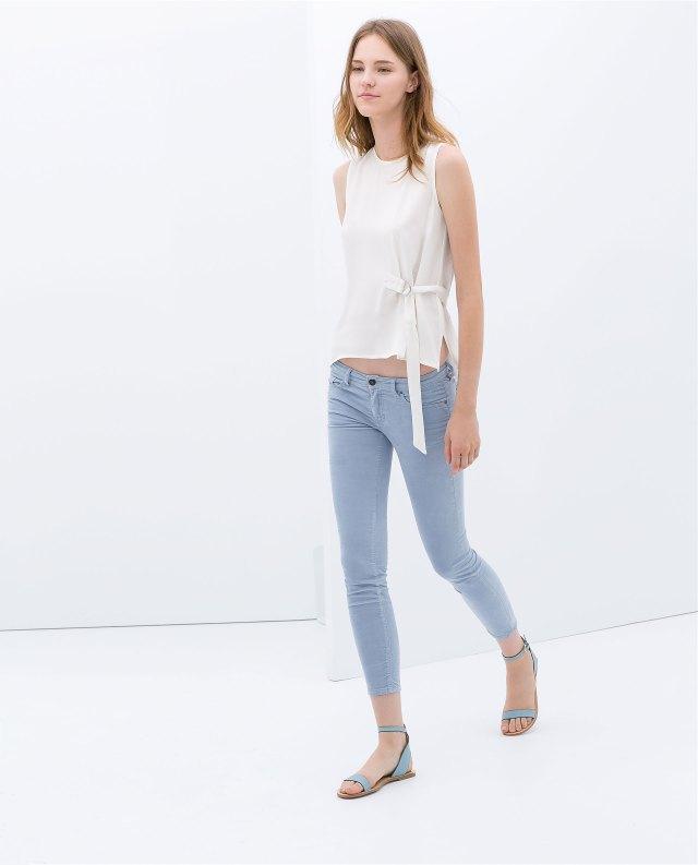 Zara baby blue skinny jeans