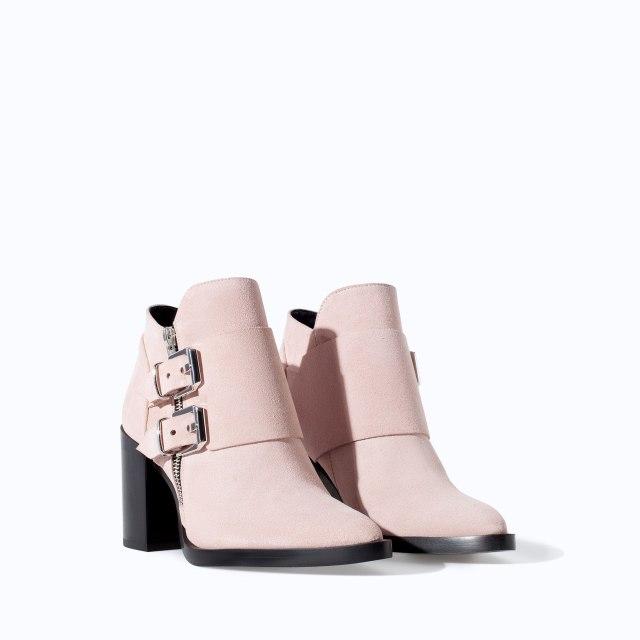 Zara baby pink booties