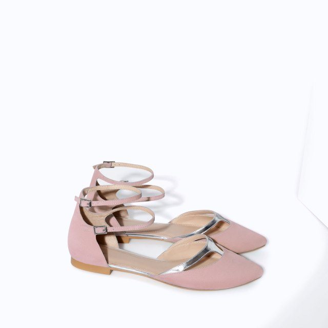 Zara baby pink flats
