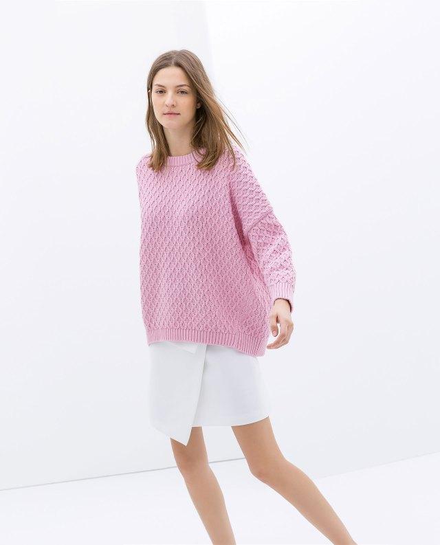 Zara baby pink jumper