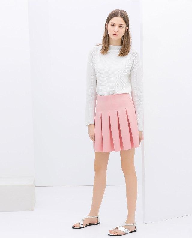 Zara baby pink skirt