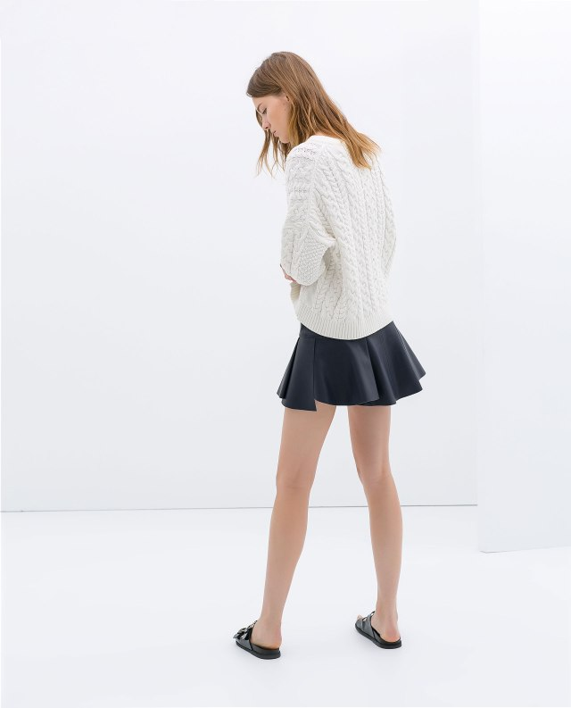 Zara - Faux leather mini skirt 2