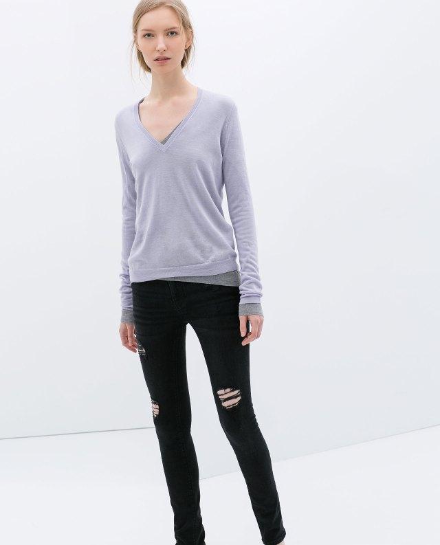 Zara - Skinny black jeans A