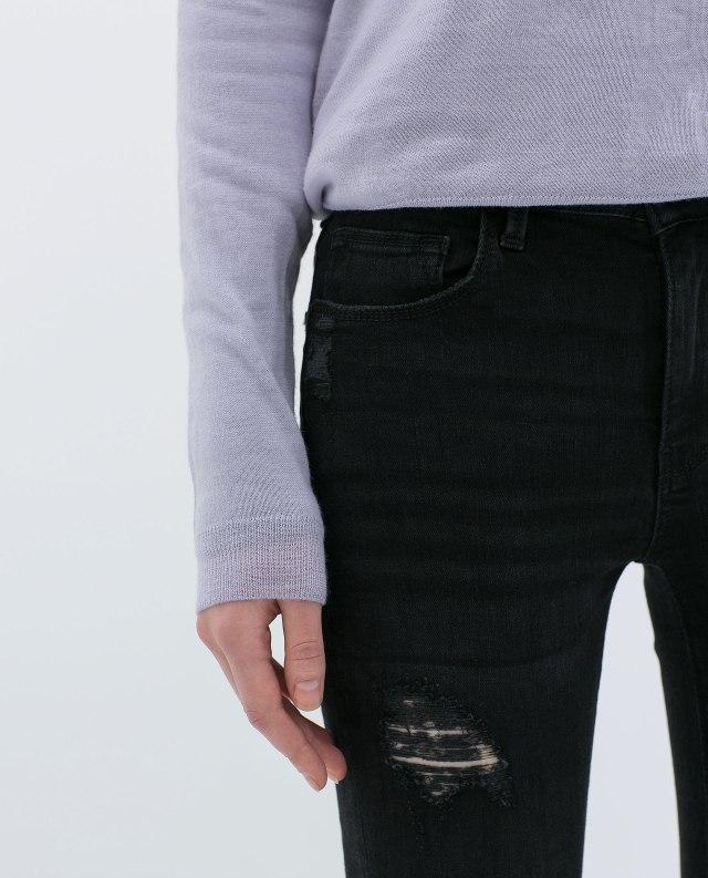 Zara - Skinny black jeans B
