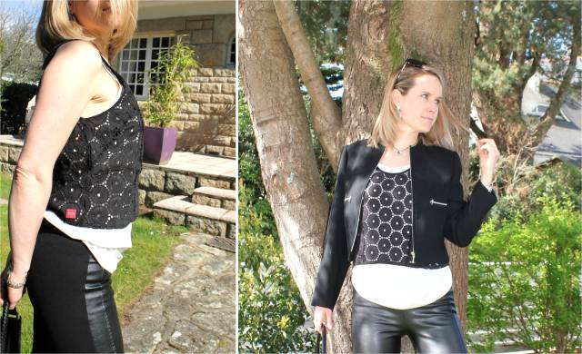 Black & white with leather & broderies anglaises duo 1