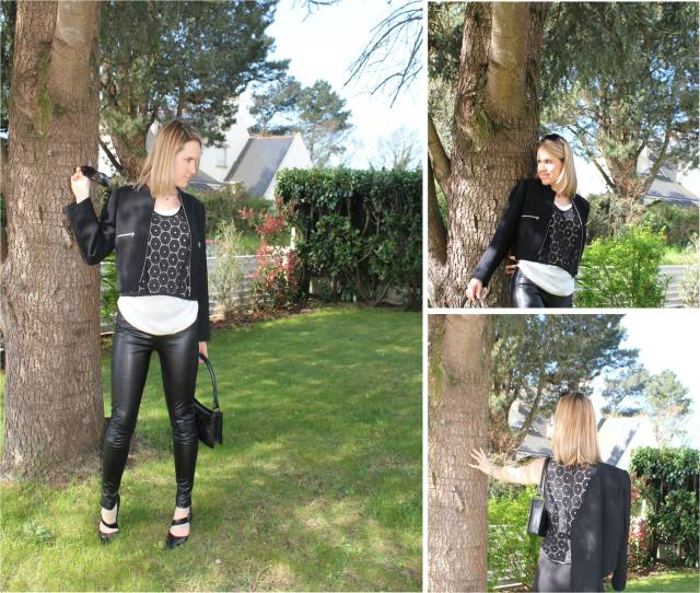 Black & white with leather & broderies anglaises trio 1